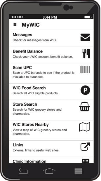 WI WIC App Screenshot